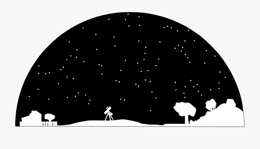 Stars In The Sky Clipart - Night Sky Clipart Black And White, Transparent Clipart