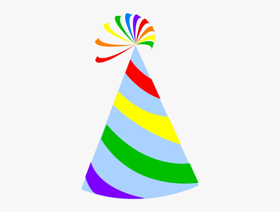 Party Hat Rainbow Sky Blue Clip Art At Clker Clipart - Party Hat Clipart, Transparent Clipart