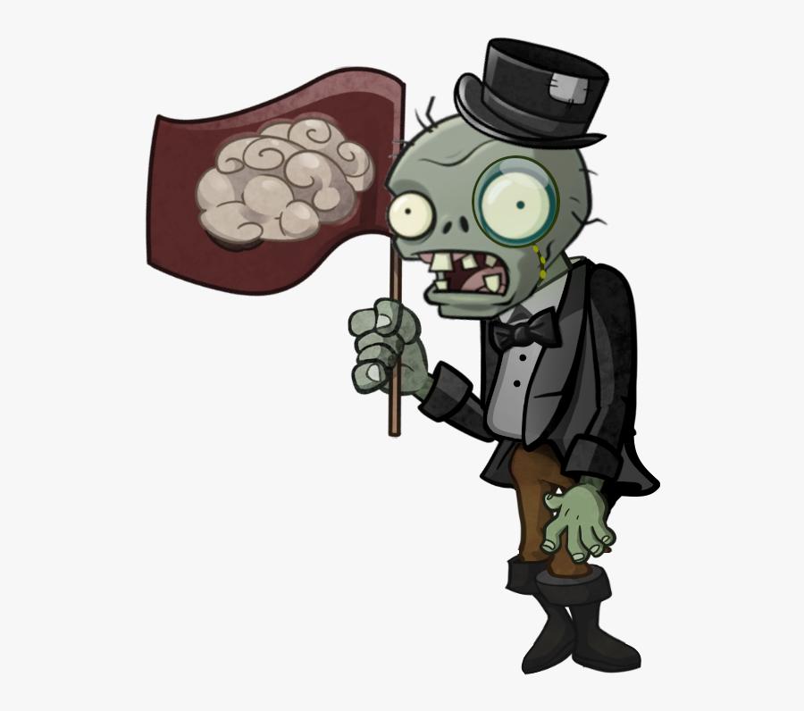 Sir Flag Zombie - Plants Vs Zombies 2 Zombie, Transparent Clipart