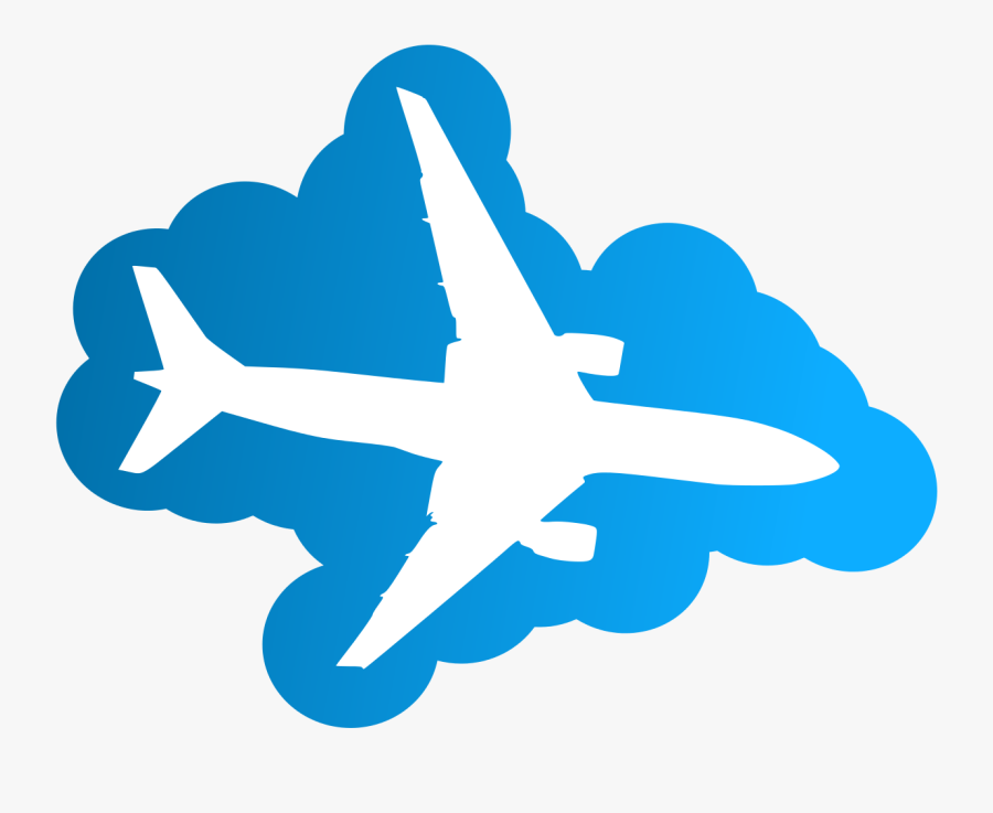 Transparent American Airlines Clipart - Airplane In Clouds Clipart, Transparent Clipart