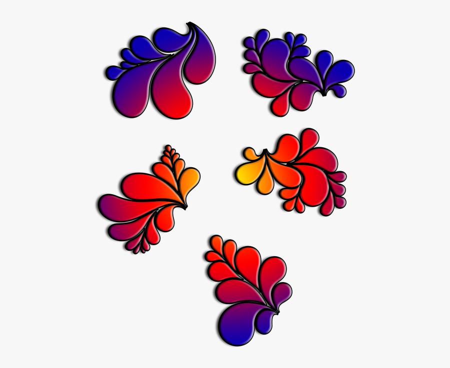 Rose Corner Cliparts 5, Buy Clip Art - Gambar Bingkai Bunga Simple, Transparent Clipart