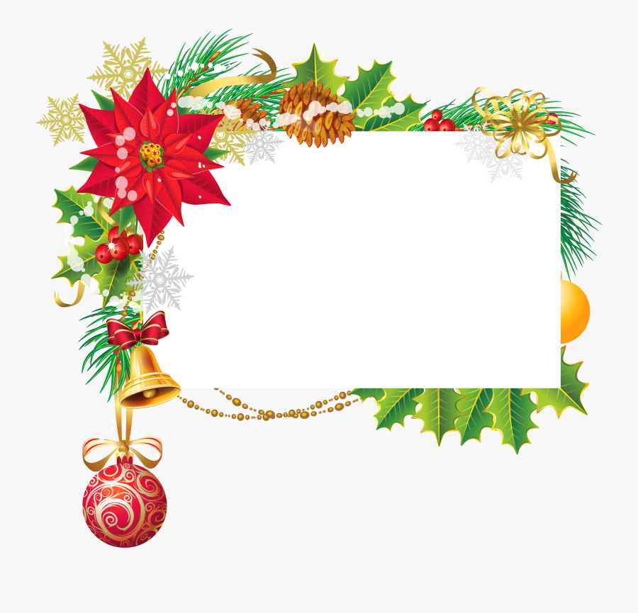 Art Deco Christmas Clip Art - Christmas Blank Png, Transparent Clipart