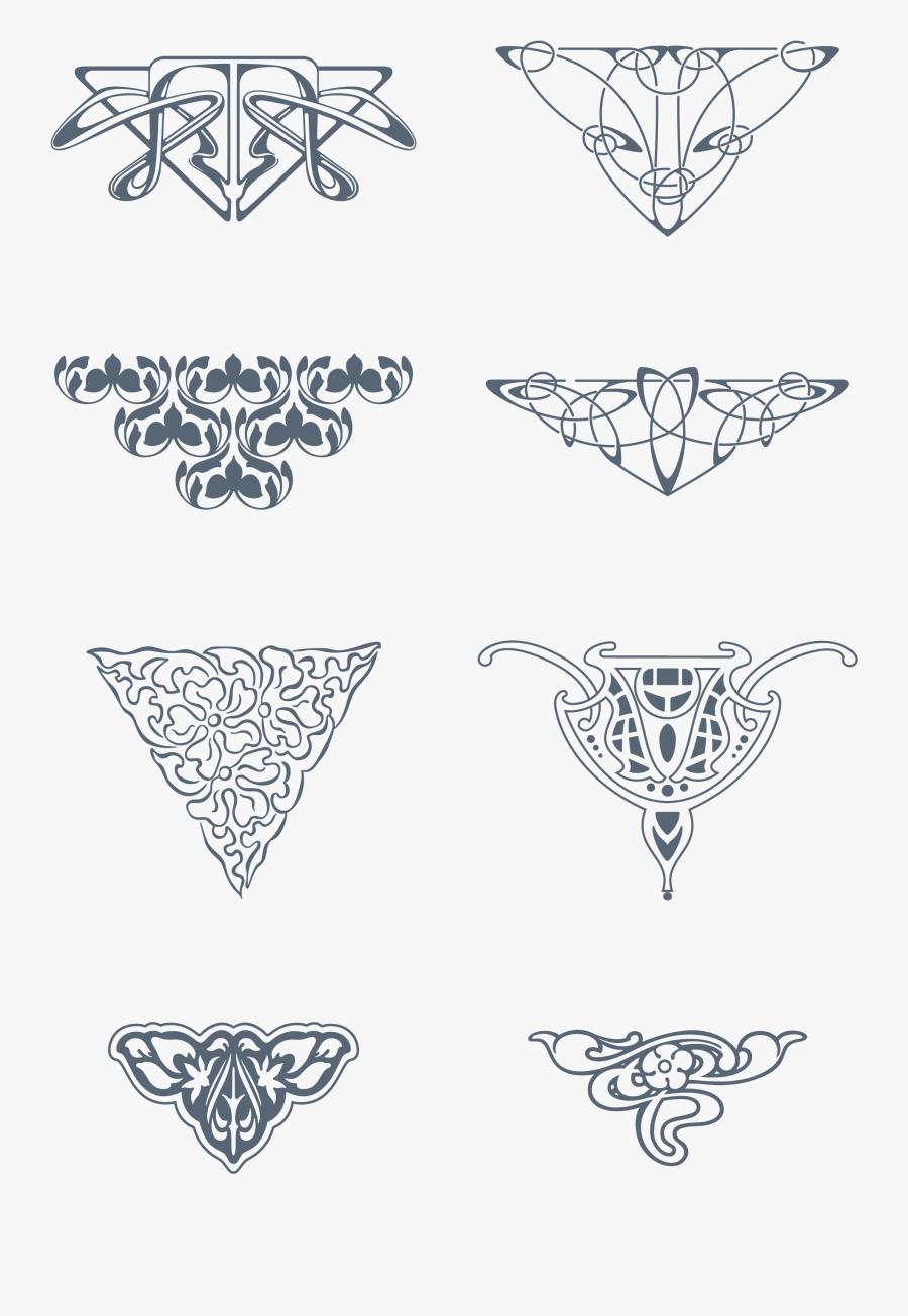 Art Nouveau Vector Art, Transparent Clipart