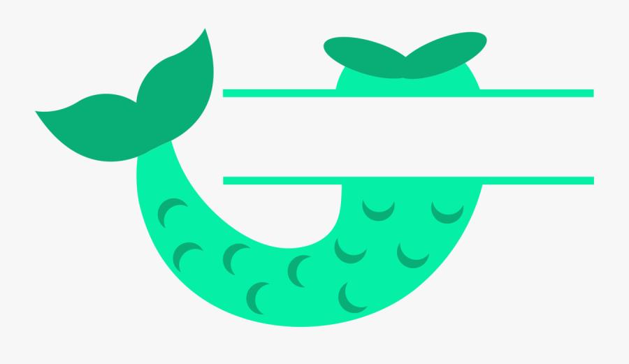 Mermaid Tail Split, Transparent Clipart