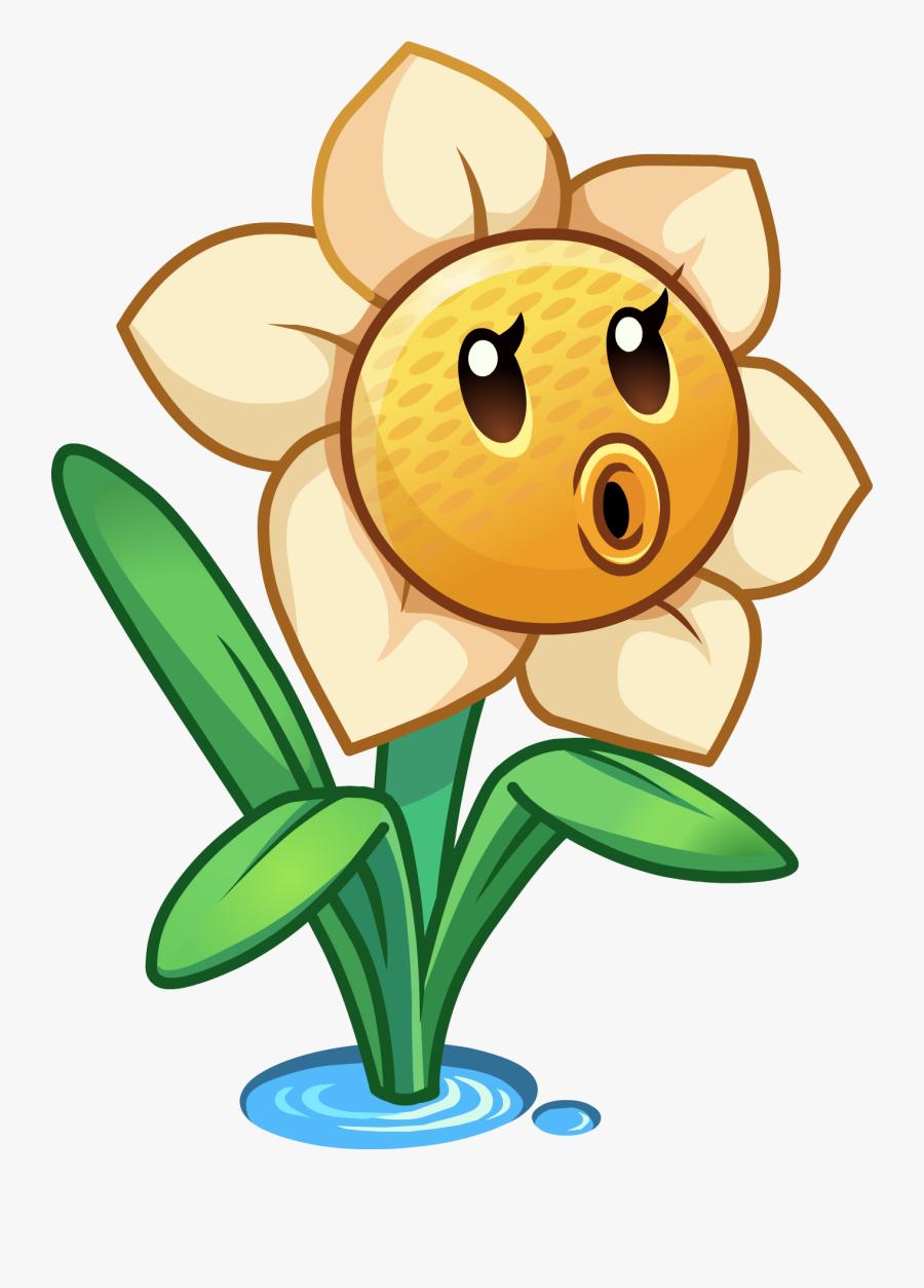 Daffodils Clipart Small Plant - Plants Vs Zombies 2 Online Plants, Transparent Clipart