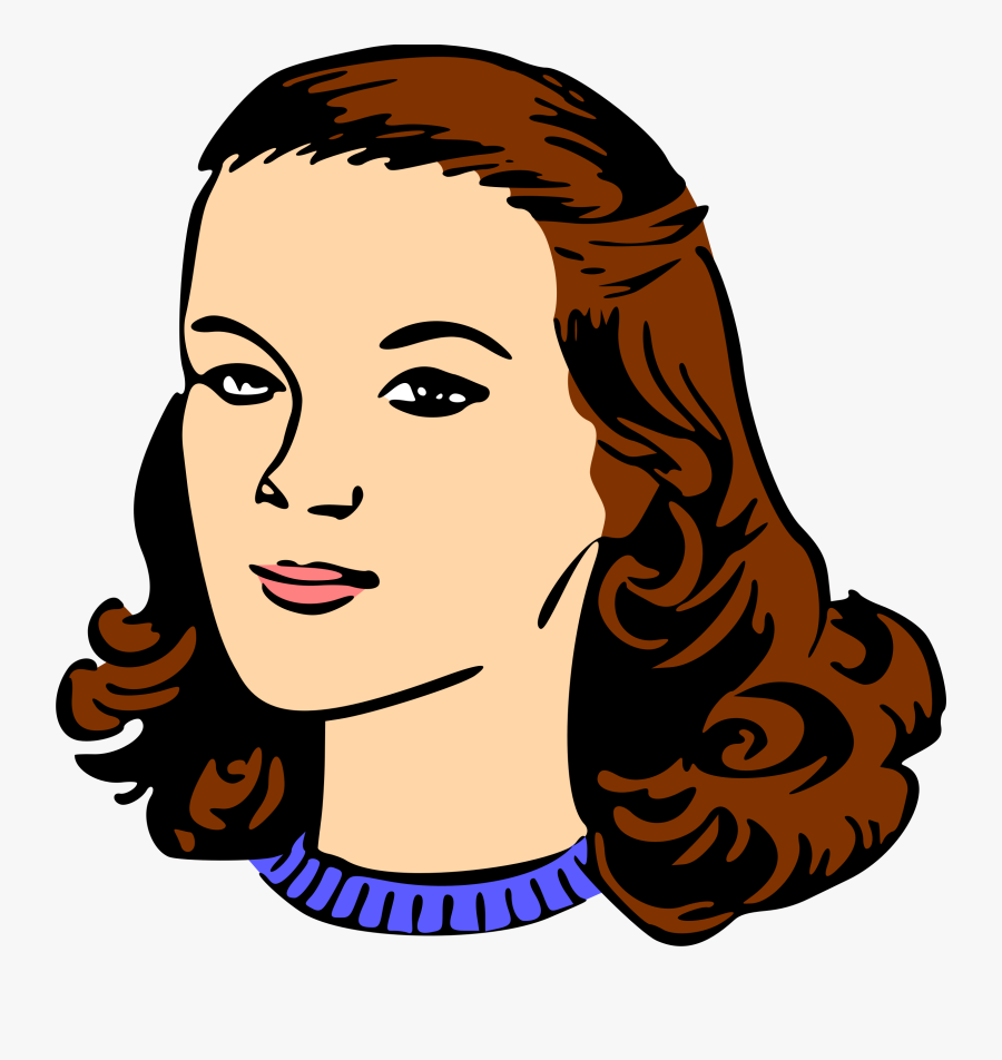 Forehead,head,neck - Clip Art Woman Head, Transparent Clipart