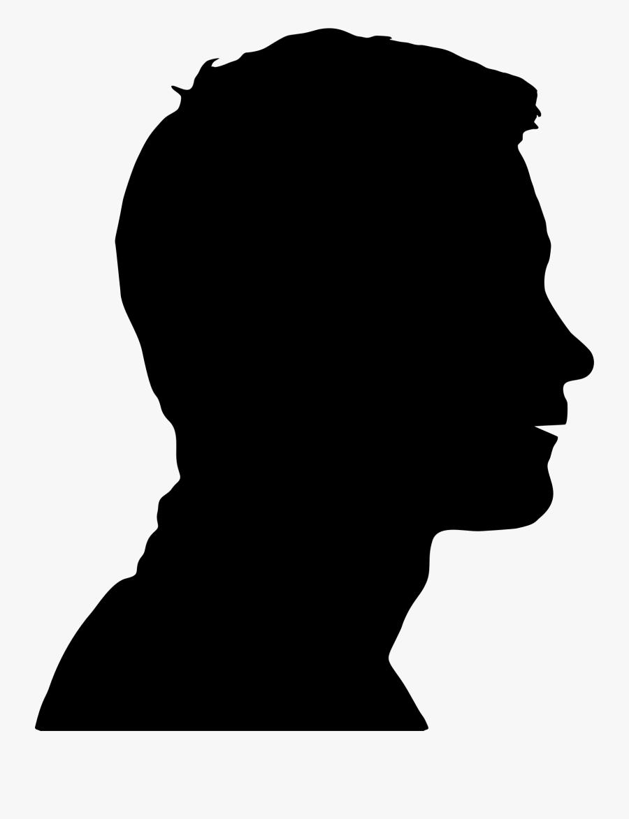 Transparent Human Clipart - Male Human Head Silhouette, Transparent Clipart