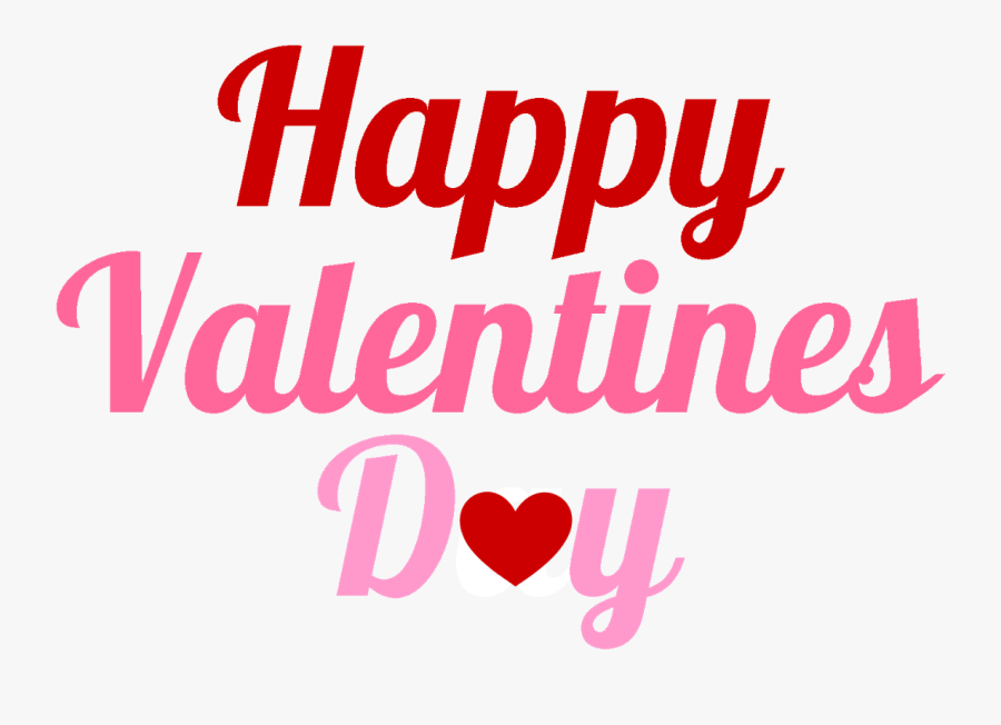 Transparent Background Happy Valentines Day Png, Transparent Clipart
