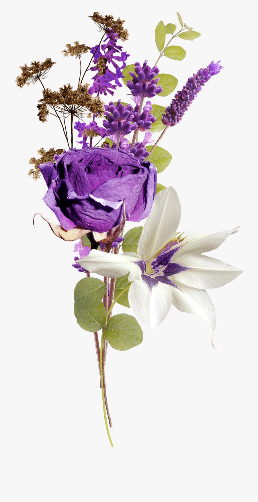 Lavender Clipart Stem - Тату Лаванда На Прозрачном Фоне, Transparent Clipart