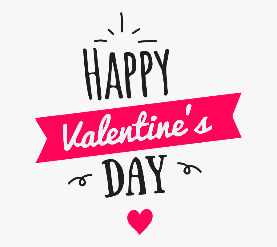 Happy Valentines Day Logo, Transparent Clipart