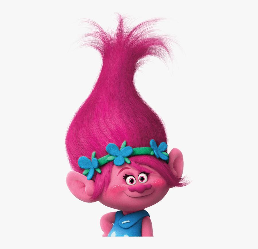 Clip Art Fundo Trolls - Princess Poppy Trolls Pink, Transparent Clipart