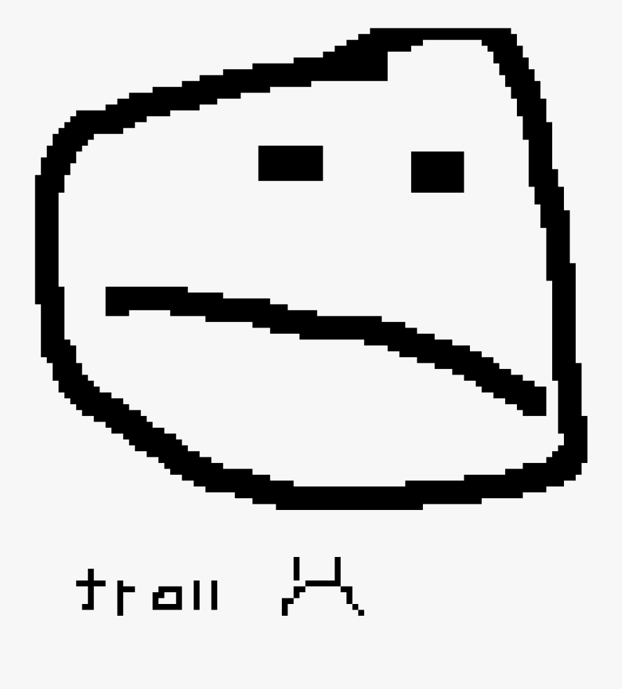 Troll Face - Aesthetic White Emoji Png, Transparent Clipart