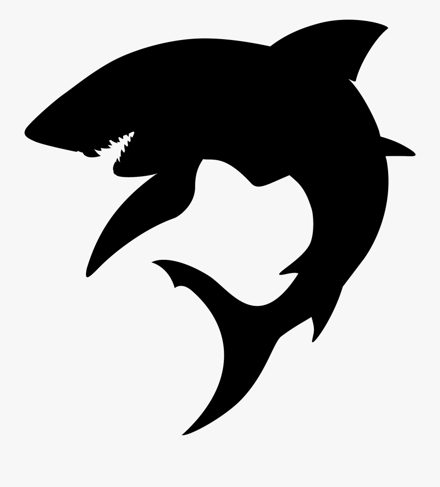 Shark Fin Soup Silhouette Hammerhead Shark Great Hammerhead - Shark Silhouette, Transparent Clipart