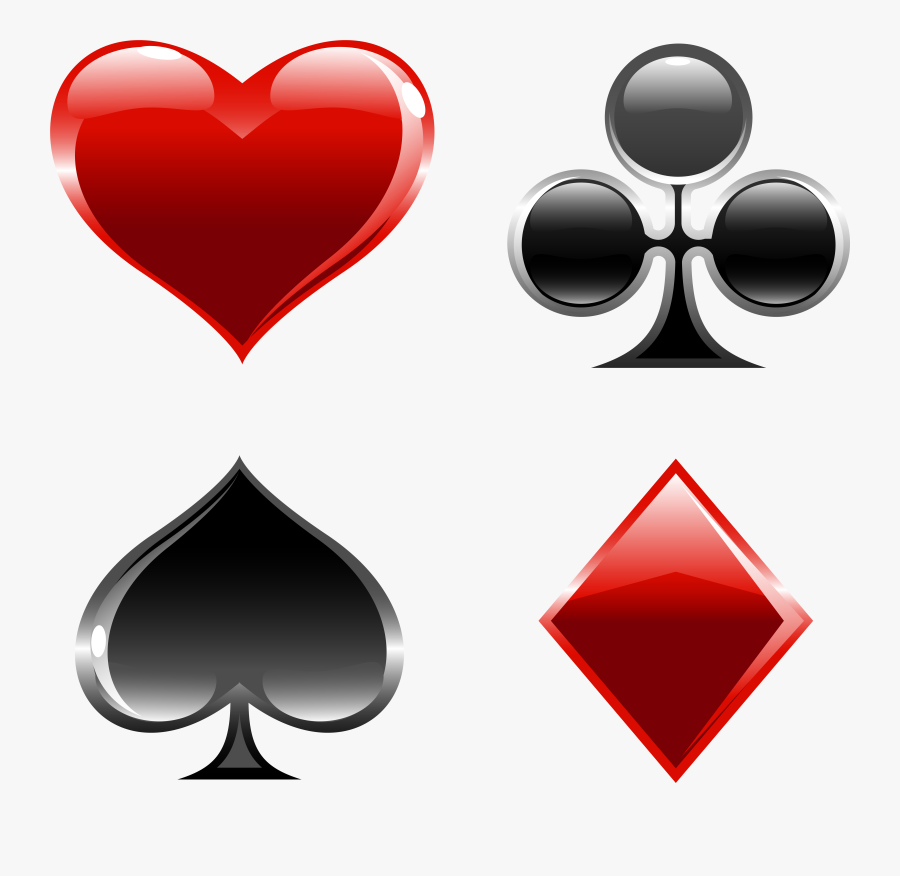 Cards Suits Png Clipart - Playing Card Suits Png, Transparent Clipart