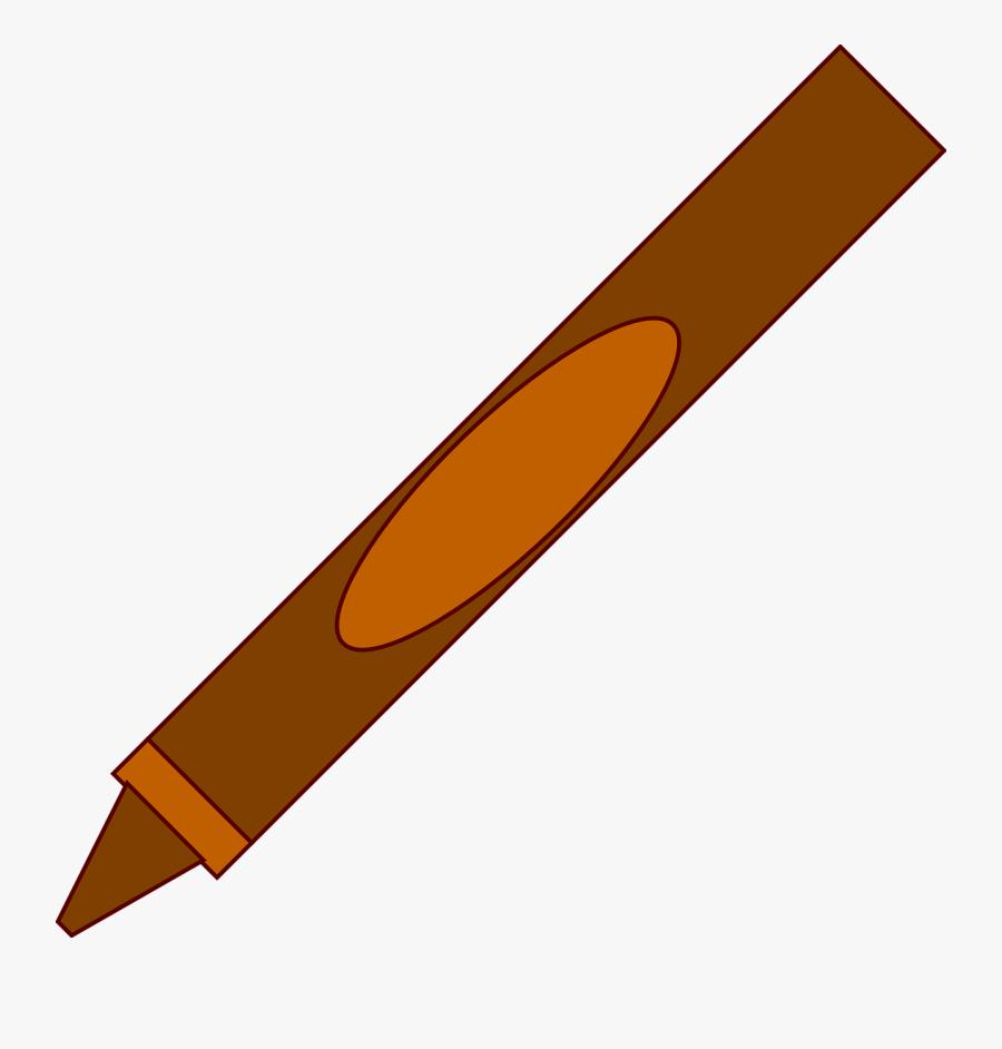 Crayon Clip Art At Clker - Brown Crayon Clipart, Transparent Clipart