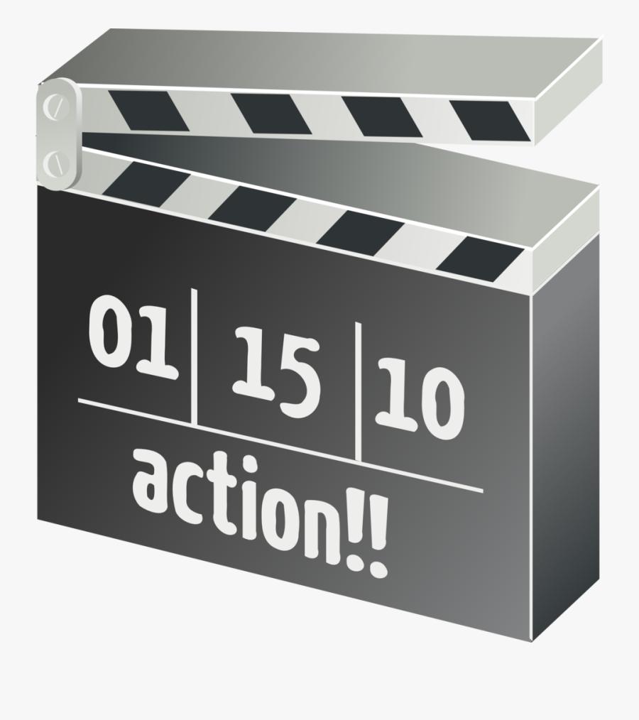 Clapper-board, Film, Movie, Motion Picture - Movie Clapper Board Clipart, Transparent Clipart
