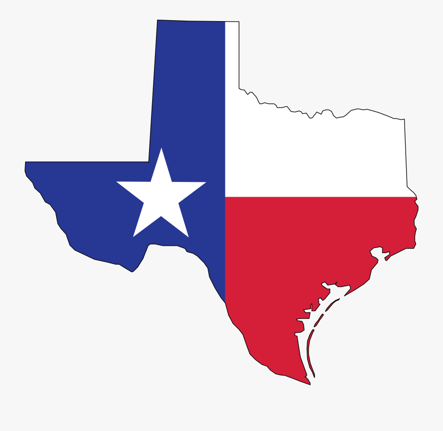 Free Clipart Of A Texas Flag Map - Texas State Flag Png, Transparent Clipart
