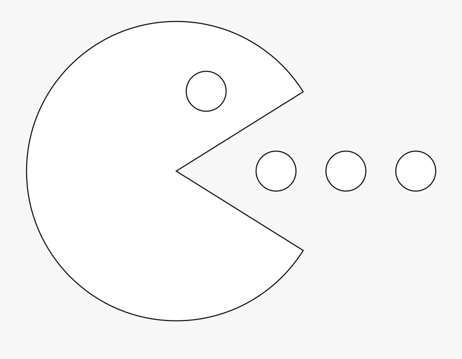 Pac Man Clipart Black And White - Pac Man Black And White, Transparent Clipart