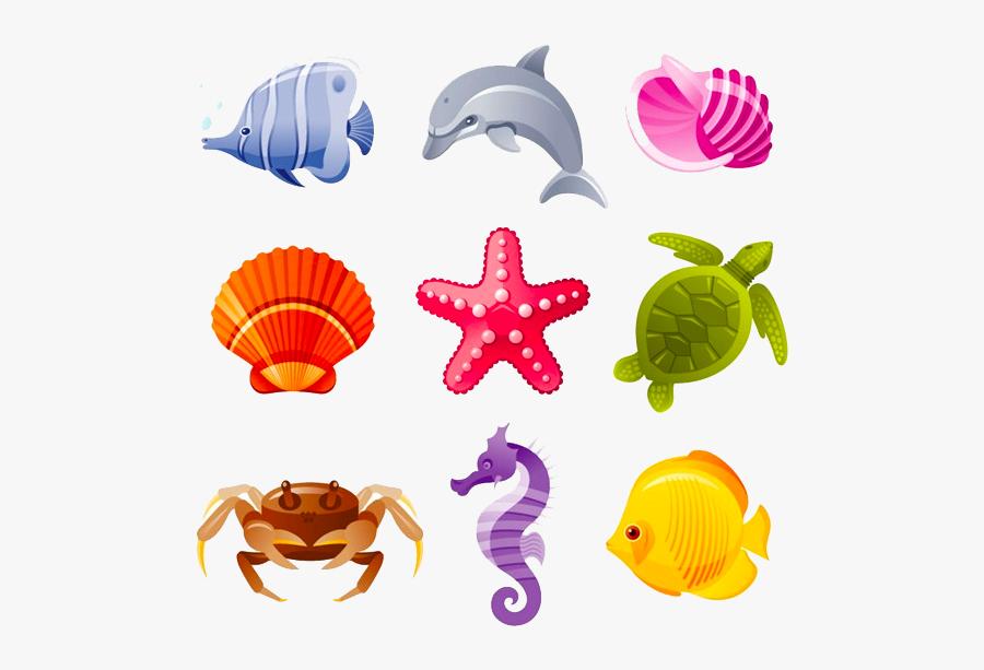 Sea Creatures Png - Sea Creatures Design, Transparent Clipart