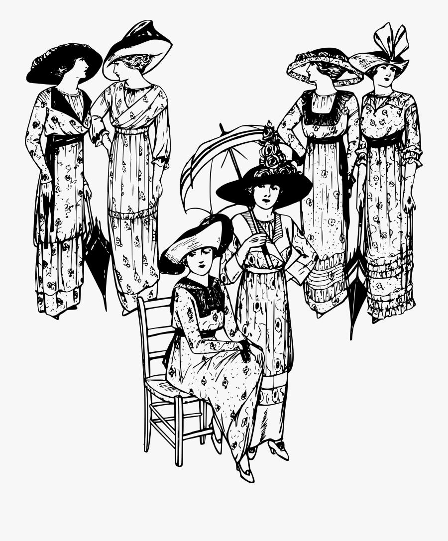 Transparent Ladies Hats Clipart - Ladies In Line Clipart, Transparent Clipart