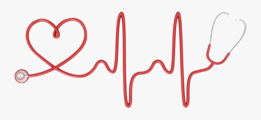 Stethoscope Heart Electrocardiography Nursing Clip - Clip Art Stethoscope Nurse, Transparent Clipart
