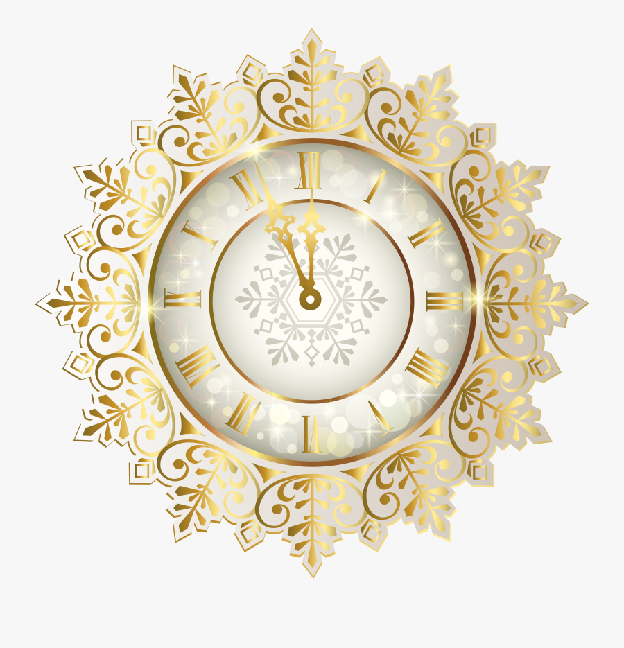 """Transparent New Year""""s Eve Clipart - New Year's Eve Clock Png, Transparent Clipart"""