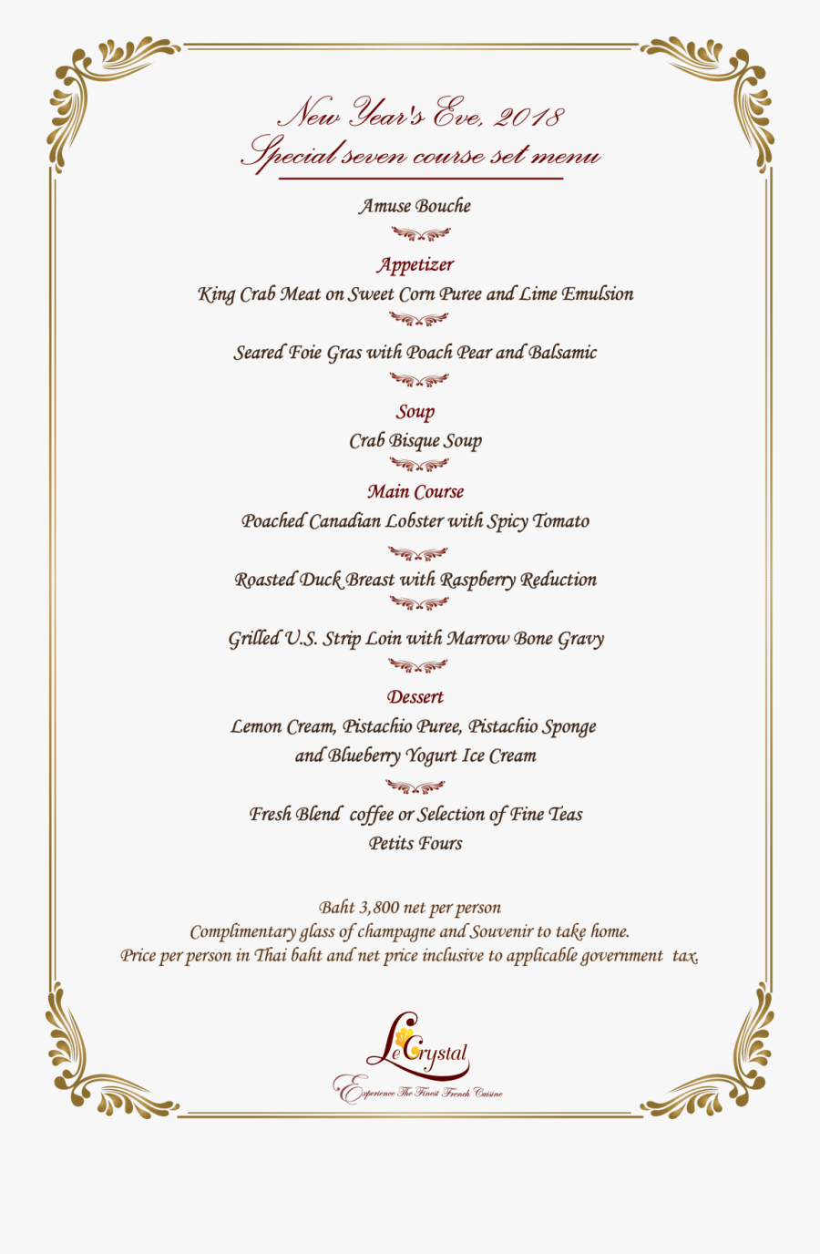 Transparent New Year Eve Png - New Year Menu 2019, Transparent Clipart