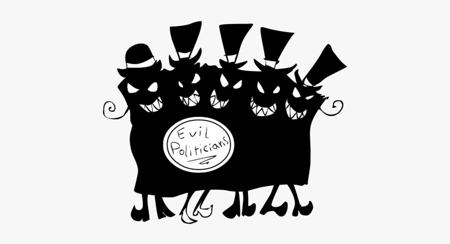 Evil Politicians - Evil Politics, Transparent Clipart