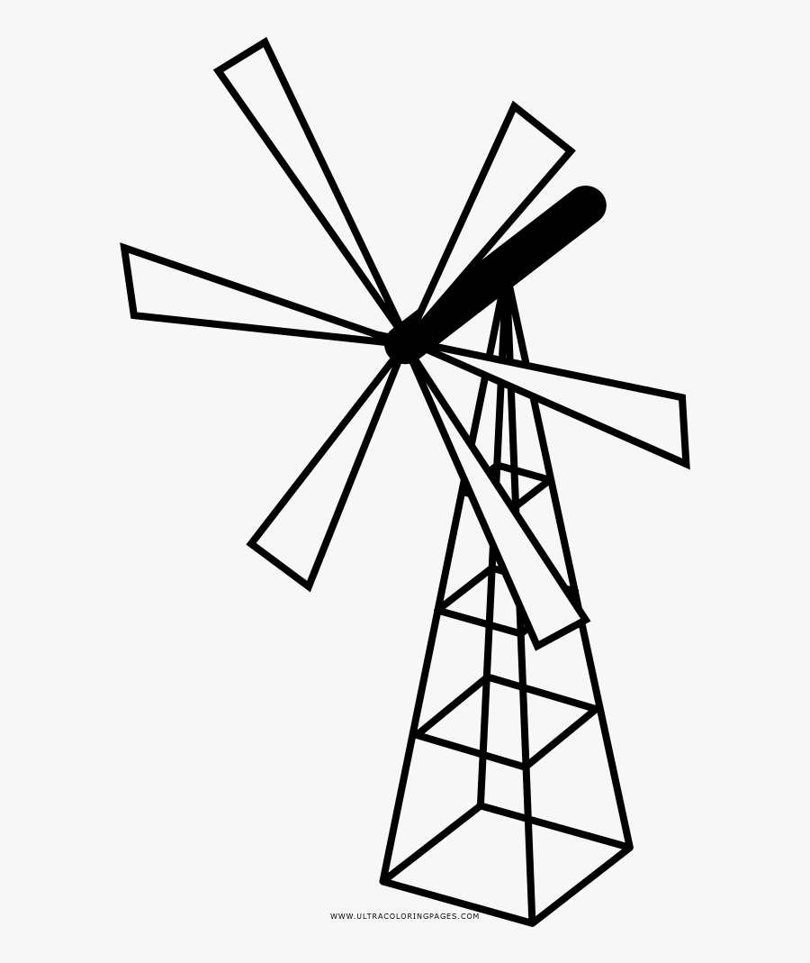 Dutch Windmill coloring page | Free Printable Coloring Pages | 1069x900