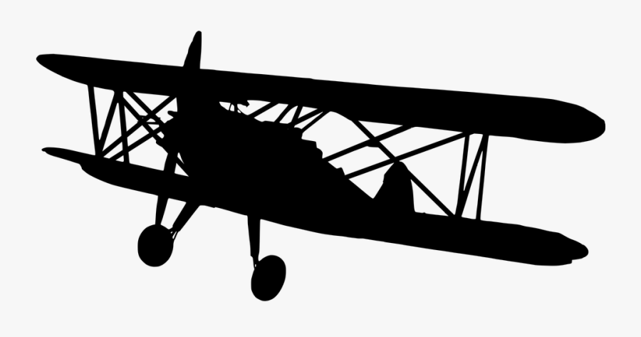 Transparent Plane Silhouette Png Old Airplane Png Transparent