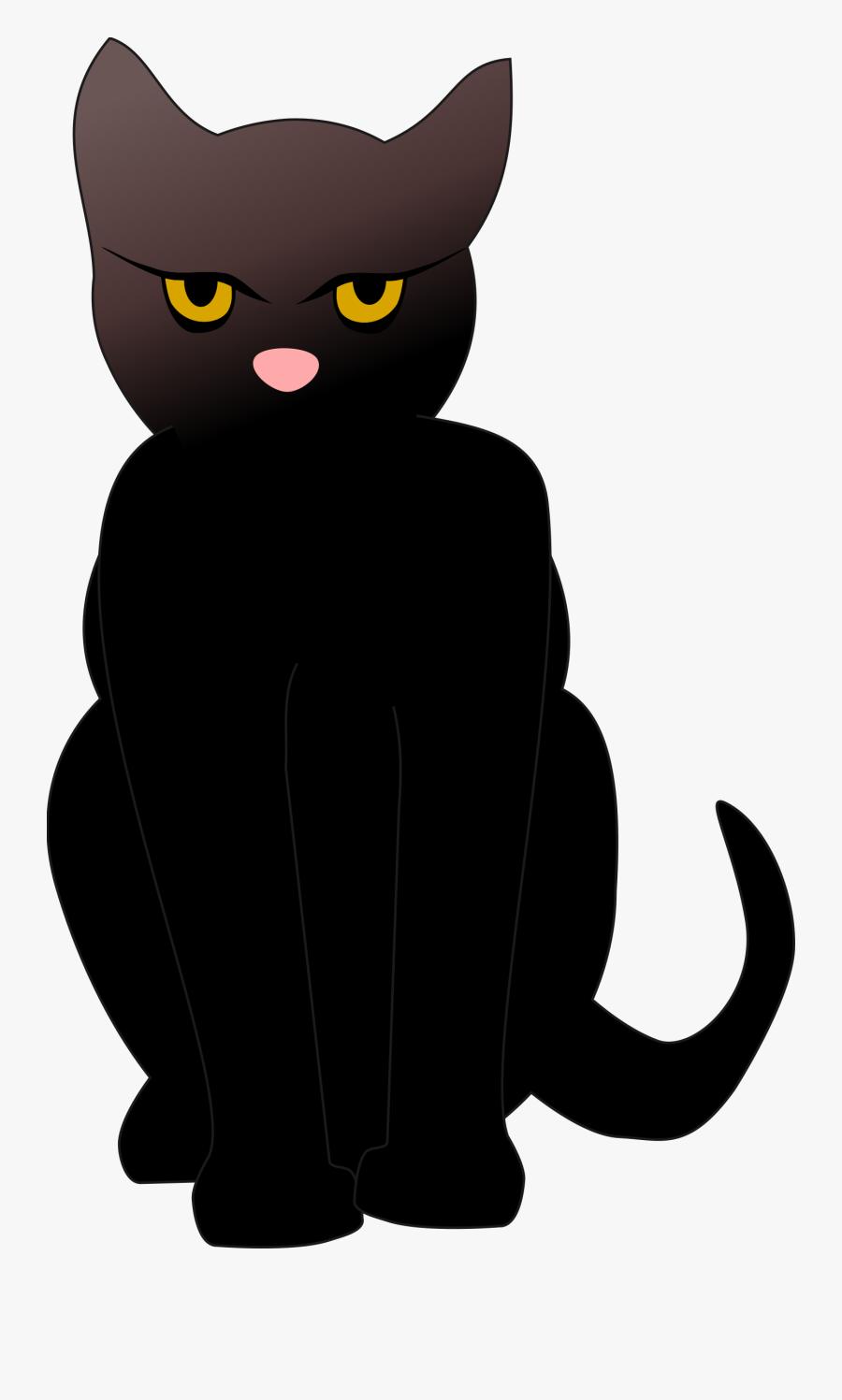 Domestic Short Haired Cat,small To Medium Sized Cats,vertebrate - Black Cat Cartoon Transparent Background, Transparent Clipart
