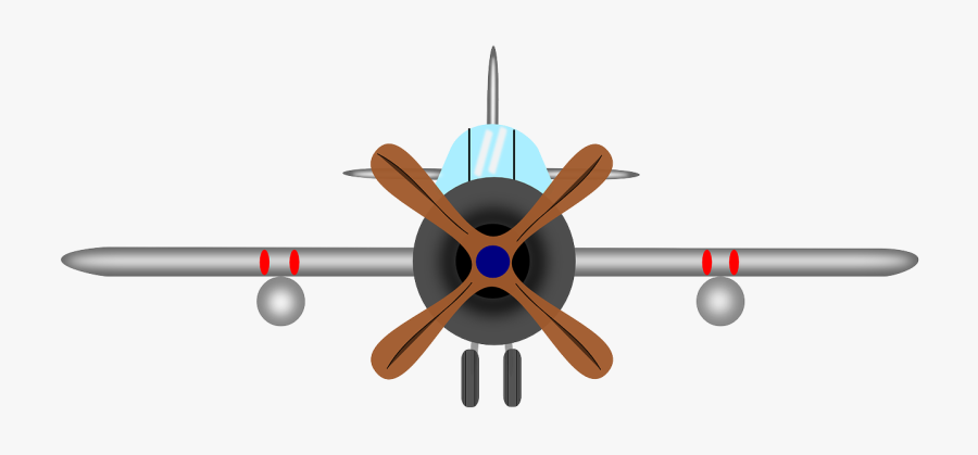 Aircraft Propeller Airplane Old Aeroplane - Plane With Propeller In Front, Transparent Clipart