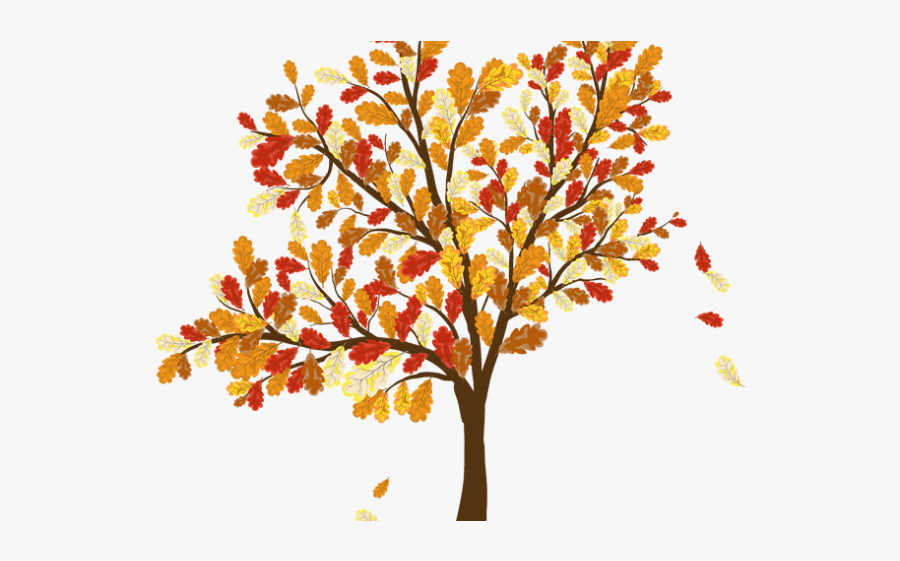 Leaves Falling From A Tree, Transparent Clipart