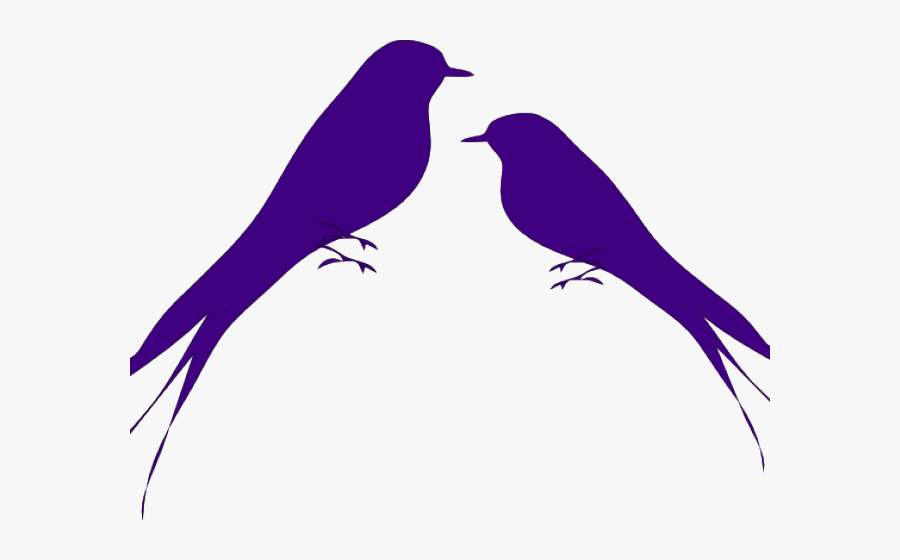 Love Bird Clipart - Png Black And White Love Bird, Transparent Clipart