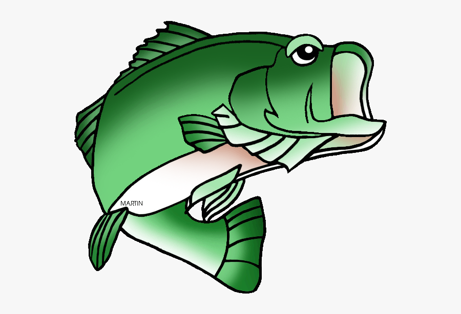 Florida State Freshwater Fish Largemouth Bass - Bass Fish Clipart Black And White, Transparent Clipart
