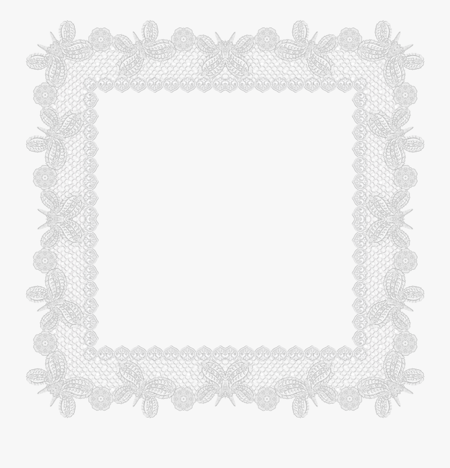 High Quality Lace Border Cliparts For Free - Transparent Background Lace Frame, Transparent Clipart