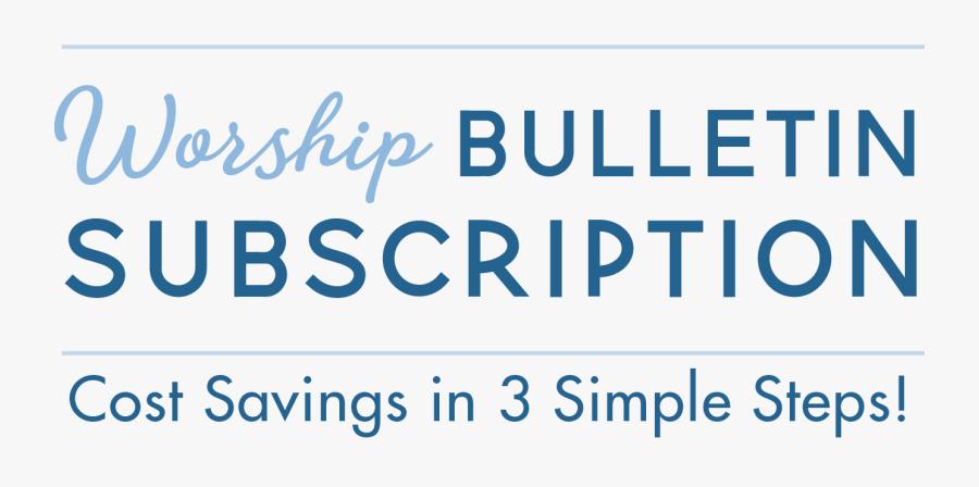 Clip Art Christian Bulletin Covers - Electric Blue, Transparent Clipart