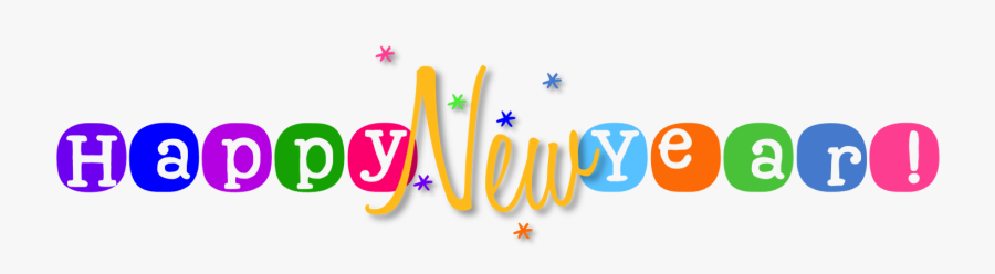 Clip Art Png Transparent Images All - Happy New Year Text Png, Transparent Clipart