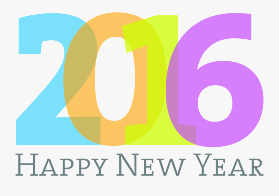 2016 New Year Logo Png - Happy New Year 2016 Png, Transparent Clipart