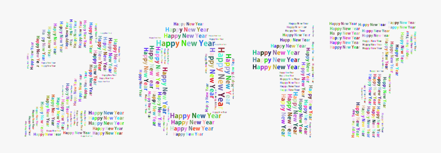 Banner Freeuse Stock Prismatic Happy New Year - Happy New Year Background Png, Transparent Clipart