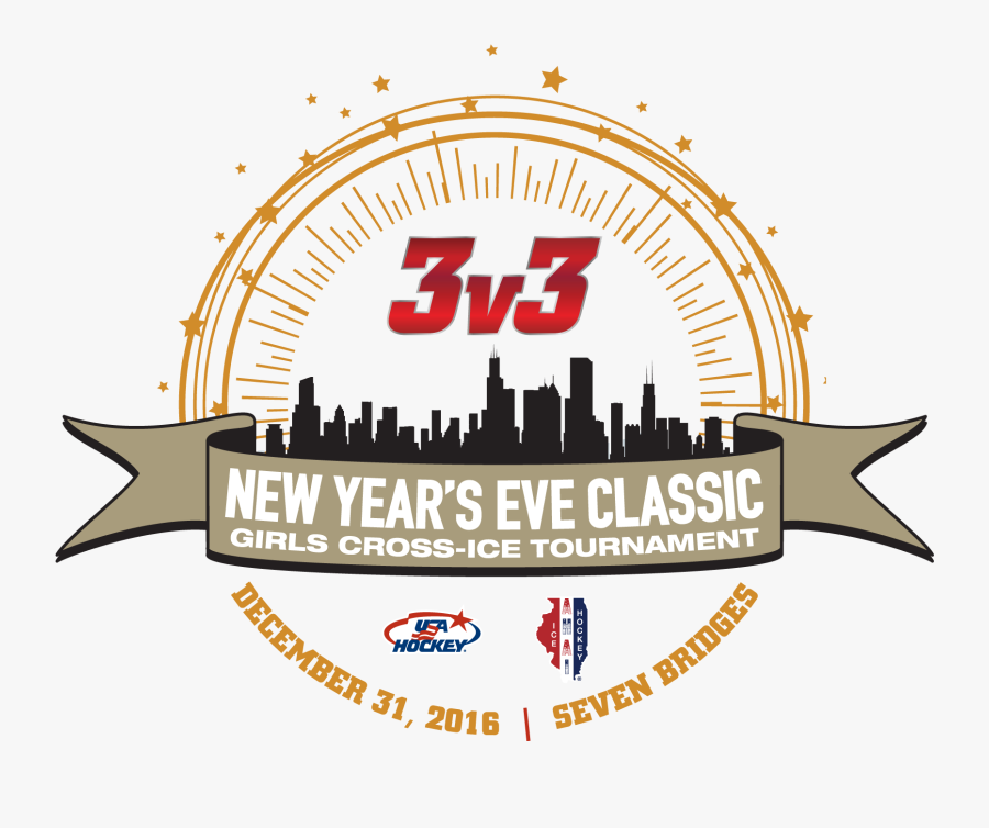 New Years Classic 3v3 Girls - New Years Eve Hockey Tournament, Transparent Clipart