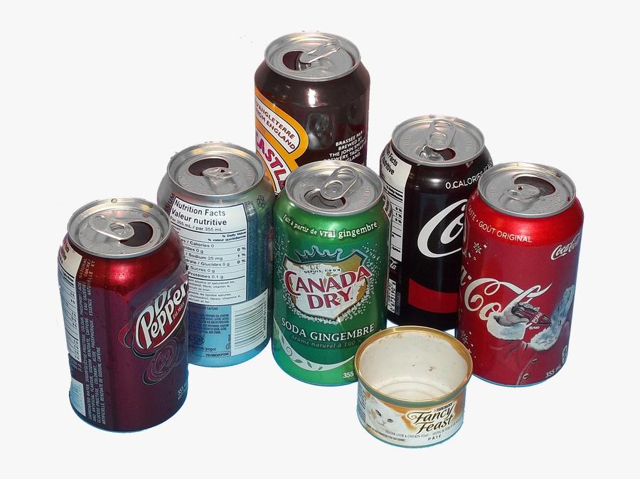 Aluminum Cans - Caffeinated Drink, Transparent Clipart