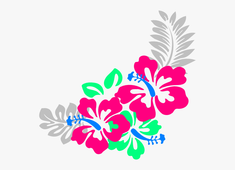 Transparent Corner Png - Border Hawaiian Flower Clipart, Transparent Clipart