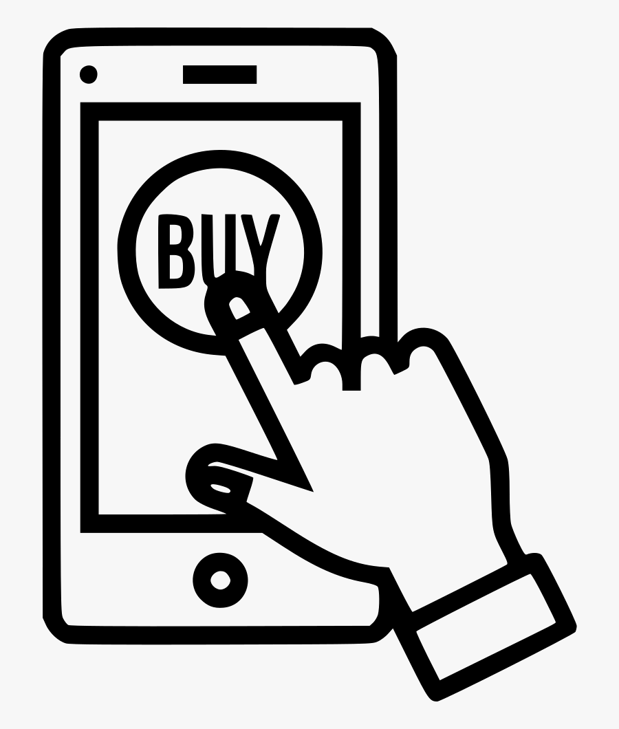 Money Bills Clipart Black And White - Shopping Online Icon Png, Transparent Clipart