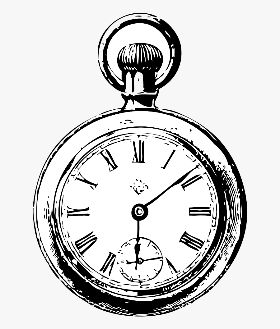 Pocket Watch - Alice In Wonderland Clock Png, Transparent Clipart