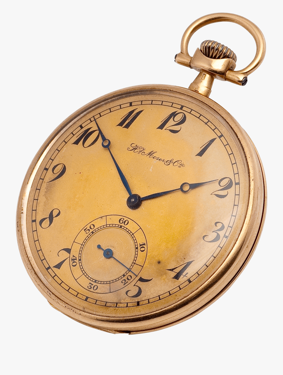 Copper Gold Pocket Watch Clock - Transparent Pocket Watch Png, Transparent Clipart