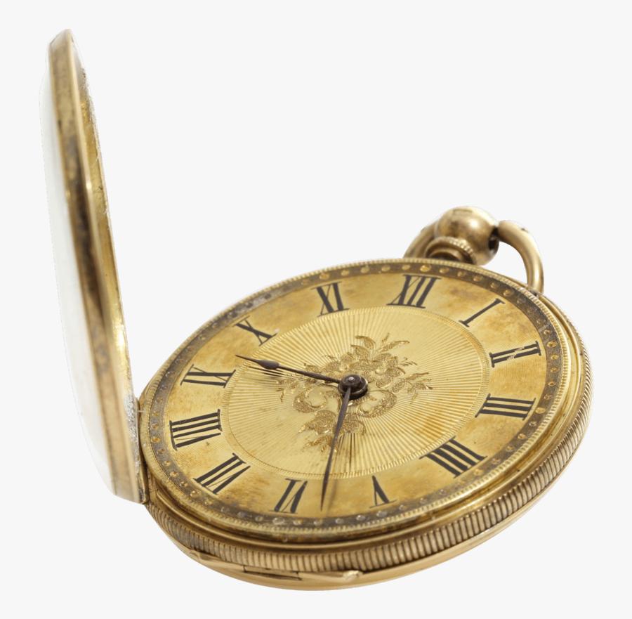 Victorian Gold Open Pocket Watch - Transparent Background Pocket Watch Png, Transparent Clipart