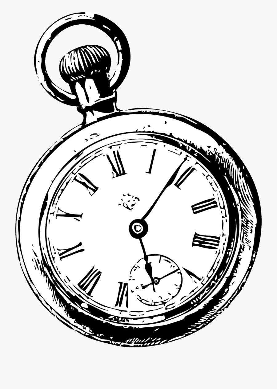Pocket Drawing Clip Art - Pocket Watch Clip Art, Transparent Clipart