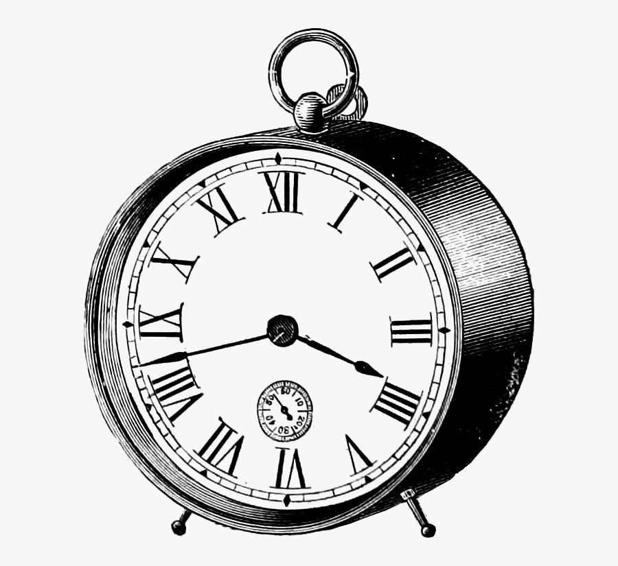 Banner Transparent Clock Drawing At Getdrawings - Vintage Clock Clipart Transparent, Transparent Clipart