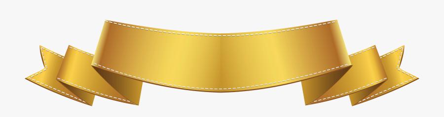 Golden Banner Clip Art Png Image - Gold Banner Clipart Png, Transparent Clipart